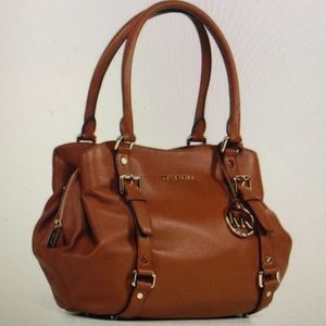 Michael Kors Cognac Brown Large Satchel Bag